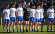 23 February 2020; Monaghan players, from left, Ryan Wylie, Darren Hughes, Niall Kearns, Rory Beggan, Drew Wylie, Michael Bannigan, Conor Boyle, and Dessie Ward before the Allianz Football League Division 1 Round 4 match between Monaghan and Mayo at St Tiernach's Park in Clones, Monaghan. Photo by Oliver McVeigh/Sportsfile