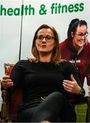 28 February 2020; All Star Camogie Player Aoife Murray speaks during Kildare Sports Partnership's Back to Basics Seminar at Keadeen Hotel in Newbridge, Kildare. Photo by Harry Murphy/Sportsfile