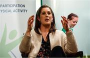 28 February 2020; Former Irish Rugby International Alison Miller speaks during Kildare Sports Partnership's Back to Basics Seminar at Keadeen Hotel in Newbridge, Kildare. Photo by Harry Murphy/Sportsfile