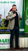 28 February 2020; Conor Reilly of Lexlip GAA speaks during Kildare Sports Partnership's Back to Basics Seminar at Keadeen Hotel in Newbridge, Kildare. Photo by Harry Murphy/Sportsfile