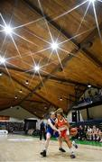 27 February 2020; (EDITOR'S NOTE: This image was created using a starburst filter) Rebecca Reddin of Scoil Chriost Rí, Portloise in action against Lucy McManus of Loreto Abbey Dalkey during the Basketball Ireland All-Ireland Schools U19A Girls League Final between Scoil Chríost Rí, Portlaoise and Loreto Dalkey at National Basketball Arena in Dublin. Photo by Eóin Noonan/Sportsfile