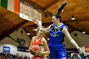 27 February 2020; Ciara Byrne of Scoil Chriost Rí, Portloise in action against Lara McNichols of Loreto Abbey Dalkey during the Basketball Ireland All-Ireland Schools U19A Girls League Final between Scoil Chríost Rí, Portlaoise and Loreto Dalkey at National Basketball Arena in Dublin. Photo by Eóin Noonan/Sportsfile