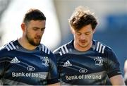 27 February 2020; Josh Murphy, left, and Jack Dunne during a Leinster Rugby captain's run at the RDS Arena in Dublin. Photo by Seb Daly/Sportsfile