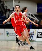 27 February 2020; Niamh Tolan of Virginia College celebrates following the Basketball Ireland All-Ireland Schools U16A Girls League Final between SMGS Blarney and Virginia College, Cavan at National Basketball Arena in Dublin. Photo by Eóin Noonan/Sportsfile