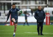 28 February 2020; John Cooney and Kicking Coach Richie Murphy during an Ireland Rugby open training session at Energia Park in Donnybrook, Dublin. Photo by Ramsey Cardy/Sportsfile