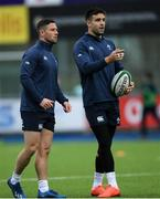28 February 2020; John Cooney, left, and Conor Murray during an Ireland Rugby open training session at Energia Park in Donnybrook, Dublin. Photo by Ramsey Cardy/Sportsfile