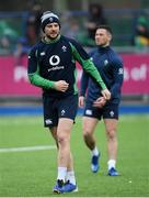 28 February 2020; Robbie Henshaw during an Ireland Rugby open training session at Energia Park in Donnybrook, Dublin. Photo by Ramsey Cardy/Sportsfile