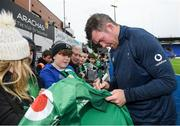 28 February 2020; Peter O'Mahony following an Ireland Rugby open training session at Energia Park in Donnybrook, Dublin. Photo by Ramsey Cardy/Sportsfile