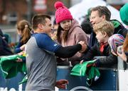 28 February 2020; CJ Stander with supporters following an Ireland Rugby open training session at Energia Park in Donnybrook, Dublin. Photo by Ramsey Cardy/Sportsfile