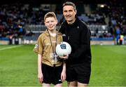 22 February 2020; Young referee Joe Hennelly with referee Maurice Deegan ahead of the Allianz Football League Division 1 Round 4 match between Dublin and Donegal at Croke Park in Dublin. Photo by Sam Barnes/Sportsfile