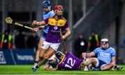 22 February 2020; Paul Morris of Wexford celebrates after Jack O'Connor, 12, scores a goal during the Allianz Hurling League Division 1 Group B Round 4 match between Dublin and Wexford at Croke Park in Dublin. Photo by Sam Barnes/Sportsfile