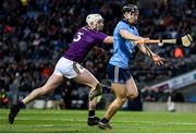 22 February 2020; Ronan Hayes of Dublin in action against Liam Ryan of Wexford during the Allianz Hurling League Division 1 Group B Round 4 match between Dublin and Wexford at Croke Park in Dublin. Photo by Sam Barnes/Sportsfile