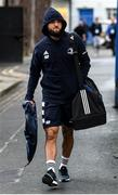 28 February 2020; Jameson Gibson-Park of Leinster arrives ahead of the Guinness PRO14 Round 13 match between Leinster and Glasgow Warriors at the RDS Arena in Dublin.