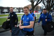 28 February 2020; Leinster players Ciaran Frawley, James Tracy, Michael Milne, and Conor Maguire arrive ahead of the Guinness PRO14 Round 13 match between Leinster and Glasgow Warriors at the RDS Arena in Dublin. Photo by Diarmuid Greene/Sportsfile