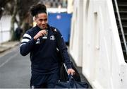 28 February 2020; Joe Tomane of Leinster arrives for the Guinness PRO14 Round 13 match between Leinster and Glasgow Warriors at the RDS Arena in Dublin. Photo by Diarmuid Greene/Sportsfile