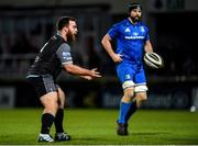 28 February 2020; George Turner of Glasgow Warriors in action against Scott Fardy of Leinster during the Guinness PRO14 Round 13 match between Leinster and Glasgow Warriors at the RDS Arena in Dublin. Photo by Diarmuid Greene/Sportsfile