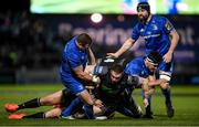 28 February 2020; Tom Gordon of Glasgow Warriors is tackled by Seán Cronin of Leinster during the Guinness PRO14 Round 13 match between Leinster and Glasgow Warriors at the RDS Arena in Dublin. Photo by Ramsey Cardy/Sportsfile