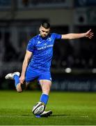 28 February 2020; Harry Byrne of Leinster kicks a conversion during the Guinness PRO14 Round 13 match between Leinster and Glasgow Warriors at the RDS Arena in Dublin. Photo by Diarmuid Greene/Sportsfile