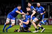 28 February 2020; Ryan Baird of Leinster is tackled by Tom Gordon of Glasgow Warriors during the Guinness PRO14 Round 13 match between Leinster and Glasgow Warriors at the RDS Arena in Dublin. Photo by Diarmuid Greene/Sportsfile