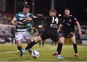28 February 2020; Ronan Finn of Shamrock Rovers is tackled by Dane Massey of Dundalk during the SSE Airtricity League Premier Division match between Shamrock Rovers and Dundalk at Tallaght Stadium in Dublin. Photo by Ben McShane/Sportsfile