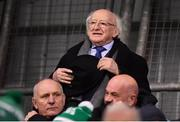 28 February 2020; President of Ireland Michael D Higgins in attendance ahead of the SSE Airtricity League Premier Division match between Shamrock Rovers and Dundalk at Tallaght Stadium in Dublin. Photo by Ben McShane/Sportsfile