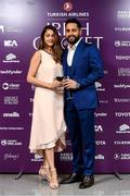 28 February 2020; Irish cricket player Simi Singh and his wife Agom at the Turkish Airlines Irish Cricket Awards 2020 at The Marker Hotel in Dublin. Photo by Matt Browne/Sportsfile