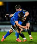 28 February 2020; Max Deegan of Leinster is tackled by Pete Horne of Glasgow Warriors during the Guinness PRO14 Round 13 match between Leinster and Glasgow Warriors at the RDS Arena in Dublin. Photo by Diarmuid Greene/Sportsfile