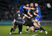 28 February 2020; Scott Fardy of Leinster is tackled by Tommy Seymour of Glasgow Warriors during the Guinness PRO14 Round 13 match between Leinster and Glasgow Warriors at the RDS Arena in Dublin. Photo by Ramsey Cardy/Sportsfile