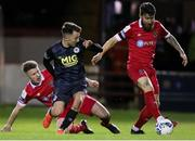 28 February 2020; Gary Deegan of Shelbourne in action against Darragh Markey of St Patrick's Athletic during the SSE Airtricity League Premier Division match between Shelbourne and St Patrick's Athletic at Tolka Park in Dublin. Photo by Michael P Ryan/Sportsfile