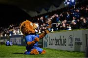 28 February 2020; Leinster mascot Leo the Lion during the Guinness PRO14 Round 13 match between Leinster and Glasgow Warriors at the RDS Arena in Dublin. Photo by Diarmuid Greene/Sportsfile
