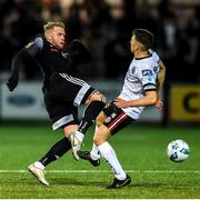 28 February 2020; Keith Buckley of Bohemians in action against Tim Nilsen of Derry City during the SSE Airtricity League Premier Division match between Derry City and Bohemians at the Ryan McBride Brandywell Stadium in Derry. Photo by Oliver McVeigh/Sportsfile