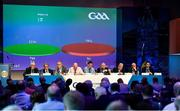 29 February 2020; A general result of the vote on Motion 10, which proposed extending the duration of adult club matches from 60 minutes to 70 minutes, which failed, during the GAA Annual Congress 2020 at Croke Park in Dublin. Photo by Piaras Ó Mídheach/Sportsfile