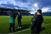 28 February 2020; Dave Kearney of Leinster is interviewed by Maz Reilly of eir Sport ahead of the Guinness PRO14 Round 13 match between Leinster and Glasgow Warriors at the RDS Arena in Dublin. Photo by Ramsey Cardy/Sportsfile
