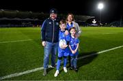 28 February 2020; Matchday mascot 9 year old Rory Doran ahead of the Guinness PRO14 Round 13 match between Leinster and Glasgow Warriors at the RDS Arena in Dublin. Photo by Ramsey Cardy/Sportsfile