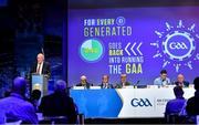 29 February 2020; Uachtarán Chumann Lúthchleas Gael John Horan speaking during the GAA Annual Congress 2020 at Croke Park in Dublin. Photo by Piaras Ó Mídheach/Sportsfile