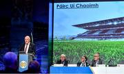 29 February 2020; Uachtarán Chumann Lúthchleas Gael John Horan speaking about Páirc Uí Chaoimh in his address during the GAA Annual Congress 2020 at Croke Park in Dublin. Photo by Piaras Ó Mídheach/Sportsfile