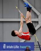 29 February 2020; Peter Dunne of Gowran AC, Kilkenny, competing in the Senior Men's Pole Vault event during day one of the Irish Life Health National Senior Indoor Athletics Championships at the National Indoor Arena in Abbotstown in Dublin. Photo by Sam Barnes/Sportsfile