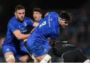 28 February 2020; Max Deegan of Leinster is tackled by Matt Fagerson of Glasgow Warriors during the Guinness PRO14 Round 13 match between Leinster and Glasgow Warriors at the RDS Arena in Dublin. Photo by Ramsey Cardy/Sportsfile