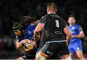 28 February 2020; Joe Tomane of Leinster is tackled by George Horne of Glasgow Warriors during the Guinness PRO14 Round 13 match between Leinster and Glasgow Warriors at the RDS Arena in Dublin. Photo by Ramsey Cardy/Sportsfile