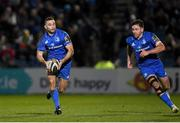 28 February 2020; Dave Kearney, left, and Hugo Keenan of Leinster during the Guinness PRO14 Round 13 match between Leinster and Glasgow Warriors at the RDS Arena in Dublin. Photo by Ramsey Cardy/Sportsfile