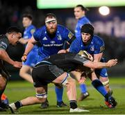 28 February 2020; Ryan Baird of Leinster is tackled by Tom Gordon of Glasgow Warriors during the Guinness PRO14 Round 13 match between Leinster and Glasgow Warriors at the RDS Arena in Dublin. Photo by Ramsey Cardy/Sportsfile
