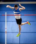 29 February 2020; Matthew Callinan Keenan of St Laurence O'Toole AC, Carlow, competing in the Senior Men's Pole Vault event during day one of the Irish Life Health National Senior Indoor Athletics Championships at the National Indoor Arena in Abbotstown in Dublin. Photo by Sam Barnes/Sportsfile