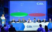 29 February 2020; A general view of the result of Motion 33, proposing to establish a National Club Fixtures Oversight Committee, which passed, during the GAA Annual Congress 2020 at Croke Park in Dublin. Photo by Piaras Ó Mídheach/Sportsfile