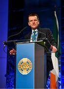 29 February 2020; Dermot Howlin, Leinster Council, speaking during the GAA Annual Congress 2020 at Croke Park in Dublin. Photo by Piaras Ó Mídheach/Sportsfile