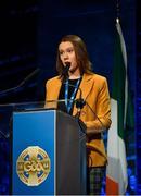 29 February 2020; Aine Doyle, GAA Youth Representative, during the GAA Annual Congress 2020 at Croke Park in Dublin. Photo by Piaras Ó Mídheach/Sportsfile