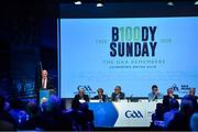29 February 2020; Uachtarán Chumann Lúthchleas Gael John Horan speaking about Bloody Sunday commemorations in his address during the GAA Annual Congress 2020 at Croke Park in Dublin. Photo by Piaras Ó Mídheach/Sportsfile