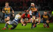 29 February 2020; Arno Botha of Munster is tackled by Angus O'Brien of Scarlets during the Guinness PRO14 Round 13 match between Munster and Scarlets at Thomond Park in Limerick. Photo by Diarmuid Greene/Sportsfile