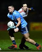 29 February 2020; Brian Howard of Dublin in action against Colm Cavanagh of Tyrone during the Allianz Football League Division 1 Round 5 match between Tyrone and Dublin at Healy Park in Omagh, Tyrone. Photo by David Fitzgerald/Sportsfile