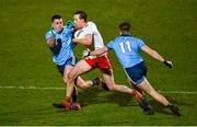 29 February 2020; Colm Cavanagh of Tyrone in action against Brian Howard and Seán Bugler of Dublin  during the Allianz Football League Division 1 Round 5 match between Tyrone and Dublin at Healy Park in Omagh, Tyrone. Photo by Oliver McVeigh/Sportsfile