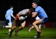 29 February 2020; Peter Harte of Tyrone in action against Michael Fitzsimons of Dublin during the Allianz Football League Division 1 Round 5 match between Tyrone and Dublin at Healy Park in Omagh, Tyrone. Photo by David Fitzgerald/Sportsfile